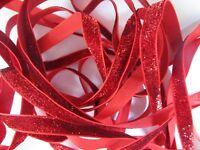 2 Meter Rot Spitze Nichtelastisch 1 cm breit Borte # BB 293