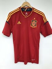 SPAIN 2012 2013 ADIDAS HOME FOOTBALL SOCCER SHIRT JERSEY CAMISETA RED
