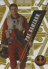 "Star Wars High Tek 2016: SW-100 ""Poe Dameron"" Gold Parallel Base Card #42/50"