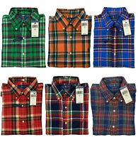 NWT Polo Ralph Lauren Mens Performance Flannel Wicking Stretch Button down Shirt