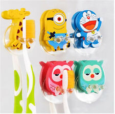 Funny Children Animal Cartoon Sucker Wall-Mounted Toothbrush Holder Suction Hook