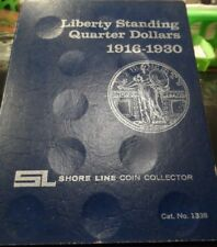 """""""UNUSED"""" LIBERTY STANDING QUARTERS SHORE LINE COLLECTOR'S COIN BOOK (32418)1"""