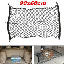 Car Trunk SUV Rear Cargo Organizer Storage Elastic Mesh Net Holder 4 Hooks PM.