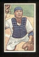 Del Wilber of the Red Sox on his Rookie card, a 1952 Bowman Baseball card #225