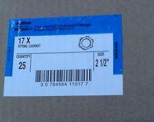 "Crouse Hinds Conduit Locknuts  21/2""  Locknut Thin Construction 17X"