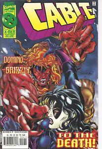 °CABLE #24 DOMINO vs GRIZZLY, TO THE DEATH!° US Marvel 1995 Jeph Loeb