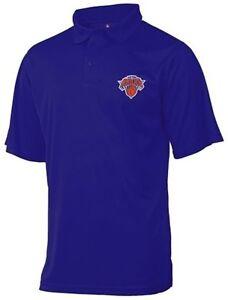 New York Knicks Moist Management Birdseye Mens Polo Shirt Blue Big & Tall Sizes