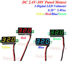 DC 2.4V-30V Digital Voltage Meter Panel Gauge 5V 12V 24V Car Battery Voltmeter