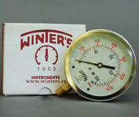 "Winters Liquid Filled Pressure Gauge 0-200 psi 4"" x 1/2"""