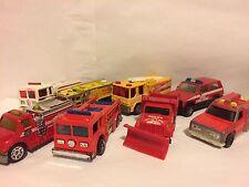 8 Matchbox 70's Hot Wheels Maisto Firetrucks Mixed Vintage Modern