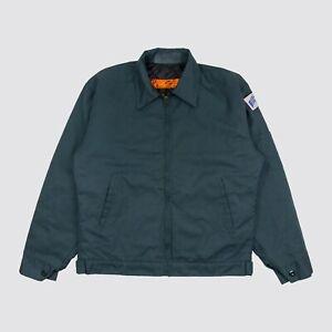 Red Kap Quilted Work Jacket LAX Patch Dark Green Mens Medium