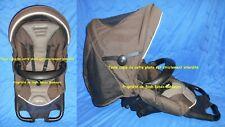 Hamac barre canopy Poussette high trek bébé confort walnut brown LOOLA STREETY