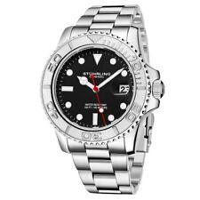 Stuhrling 3967 3 Aquadiver Quartz Date Stainless Steel Bracelet Mens Watch