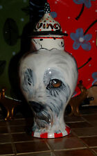 Custom ceramic Pet urn for ashes scotty dog urn small pet memorial sm jar ash