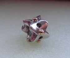 Authentic Pandora Eyelet Lace w/14k gold bead charm 790326