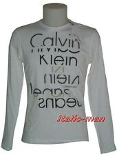 T-shirt m/l CALVIN KLEIN - mod. CMP78J - tg. L - bianca
