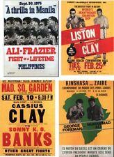 Cassius Clay Muhammad Ali programa juego de postales # 1
