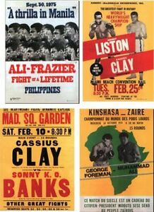 Cassius Clay Muhammad Ali program  postcard set # 1