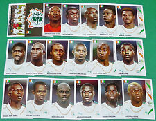 PANINI FOOTBALL GERMANY 2006 COTE D'IVOIRE WM DROGBA COMPLET FIFA WORLD CUP