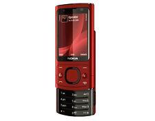 Nokia 6700 Slide - Red(Unlocked) Smartphone Bluetooth Camer 5.0 MP