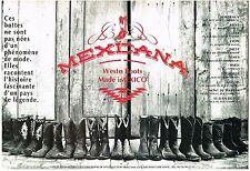 PUBLICITE ADVERTISING   1994   MEXICANA    WESTERN BOOTS (2 PAGES)