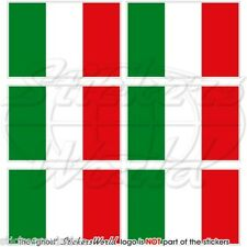 """ITALY Italian Flag Italia 40mm (1.6"""") Mobile Cell Phone Mini Stickers-Decals x6"""
