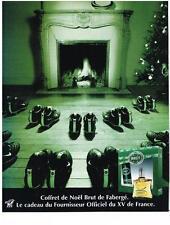 PUBLICITE ADVERTISING  2003   BRUT de FABERGE   COFFRET DE NOEL