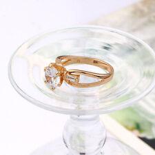 Trendy 18k ct Yellow Gold Filled GF Zircon  Women's Ring Size 5