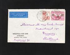 Dutch East Indies 1933 Air Bandoeng Java to Holland Batavia Transit Wielenga Z87