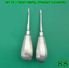 Set Of 2 Twist Dental Clockwise Counterclockwise Specialty Straight Elevators