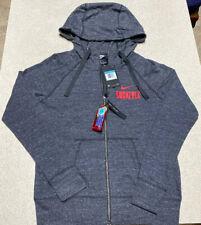 Women's NIKE OHIO STATE BUCKEYES Gray Full Zip Hoodie Jacket Size Medium