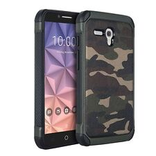 "For JITTERBUG SMART (5.5"" SCREEN) - HYBRID ARMOR SKIN CASE COVER CAMO GREEN ARMY"