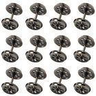 12pcs HO Scale 38'' Metal Spoked DC Wheels for Model Train 1:87 DC Wheel HP1487