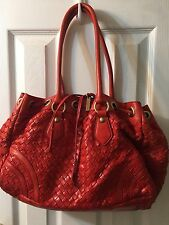 Adrienne Vittadini Leather Shoulder Bag In coral