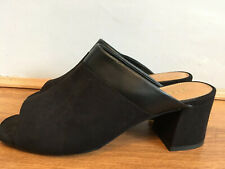 Next Womens Black Suede Mules Size 6
