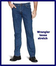 Wrangler jeans texas stretch regular uomo con zip fly vita alta dritto W30 31 33