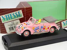 Vitesse 1/43 - Scarabeo di VW Coccinelle Cabrio Hippy Stile 1949 V1