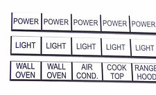 1 set of 30 x ABS Circuit Breaker Labels