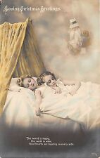 B84699 children sleeping  santa with toy uk   santa claus papa noel