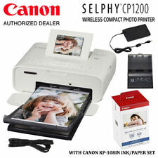 Canon SELPHY CP1200 Wireless Compact Photo Printer & 108 Sheets Print Kit Bundle