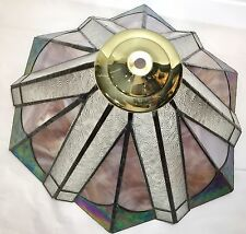"""Vintage Marbled  Slag Glass Tiffany Style Lamp Shade 15""""wide"""