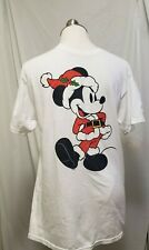 Vintage Mickey Mouse T Shirt Christmas 90s Rare Mediu White Graphic