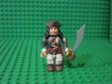 Mega Bloks Pirates Of The Caribbean MiniFigure Jack Sparrow minifig + sword
