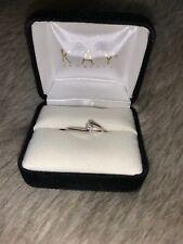 Kay Jewelers 10k White Gold 0.20 Carat Diamond Ring Size 7