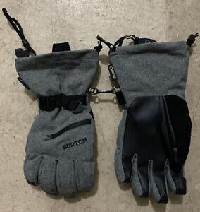 Burton Baker 2-in-1 Snowboard Gloves Mens Sz Large Gray Snowboarding Dry Ride