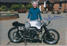 Sammy Miller SIGNED MOTO GUZZI TT Racing Legend 12x8 Photo AFTAL Autograph COA