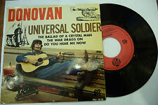 "DONOVAN""UNIVERSAL SOLDIER-disco 45 giri EP(4 brani) PYE France 1967"" BEAT UK"