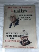 Leslie's Illustrated Weekly Newspaper The War in Pictures May 25th 1918