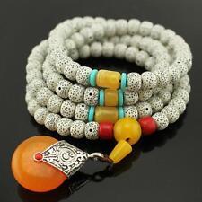 8mm 108pcs Bodhi Buddhist Bangle Prayer Tibet Pure Beads Mala Bracelet Necklace