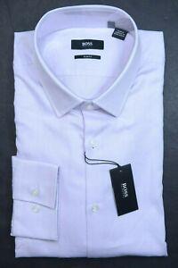 Hugo Boss Men's Jenno Slim Fit Pastel Purple Cotton Dress Shirt 43 17 32/33